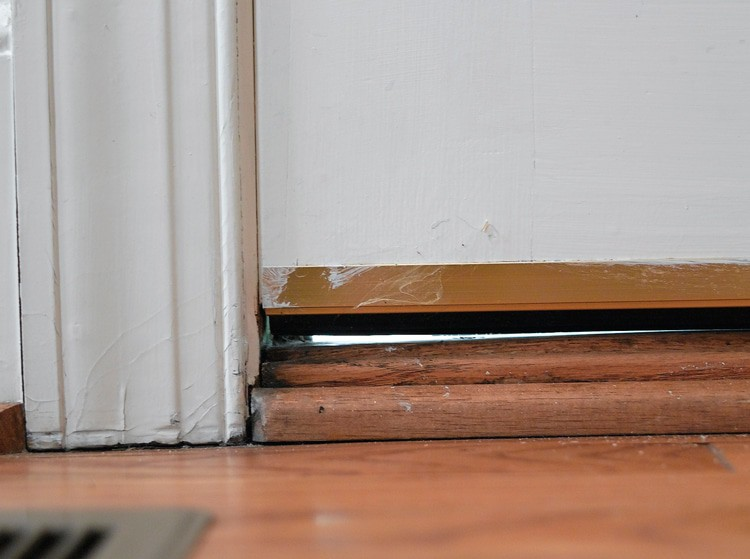 Gap in Door Entry Point for Pests